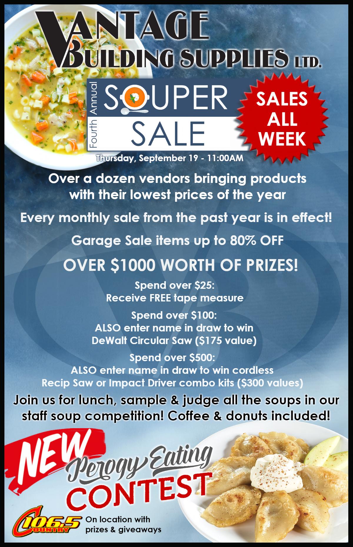 Vantage Building Supplies Soup-er Sale