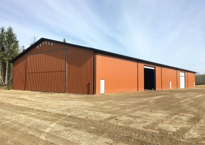 Agricultual construction project by Vantage Builders near Edmonton, Alberta